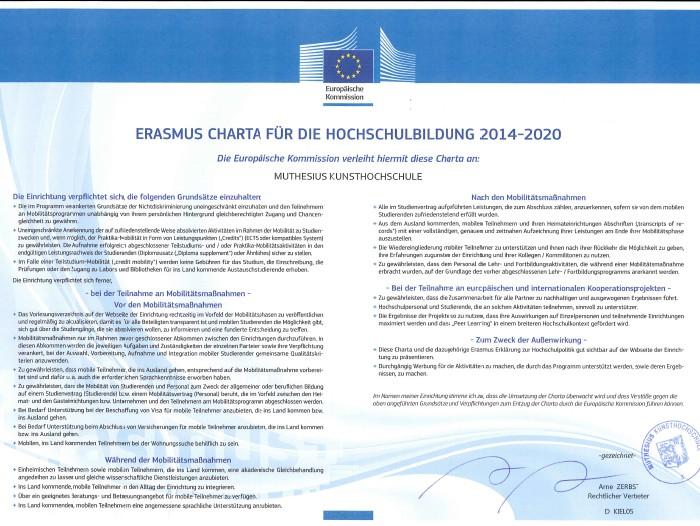 Erasmus plus Charta 2014-2020