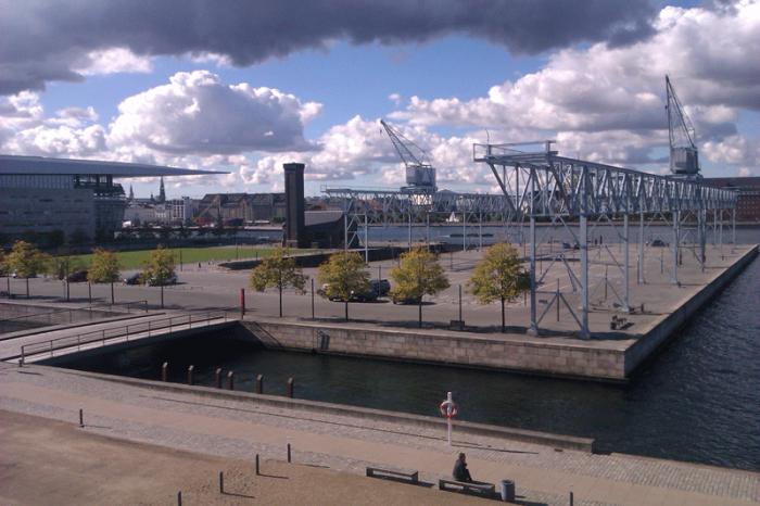 Ausblick von der Terrasse - Erasmus in Kopenhagen