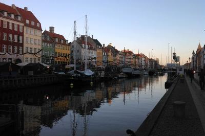 Nyhavn . Erasmus in Kopenhagen
