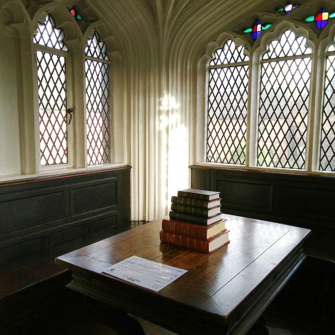 Arbeitsecke von Marx und Engels in der Chethams Library